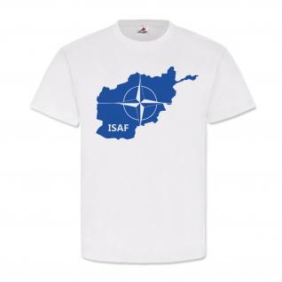 Isaf Nato Bundeswehr Einheit Otan Landkarte - T Shirt #3994