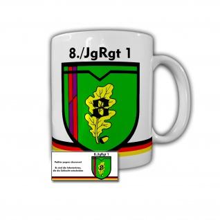 Tasse 8 Jägerregiment 1 Becher Kaffee Tee BW DZE Andenken Geschenk #30306
