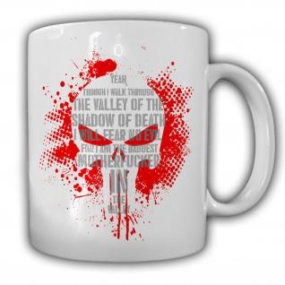 Skull Infidel Army Schatten BW Valley Fear Shadow of Death Tasse #26113