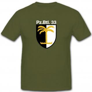 Bundeswehr Wappen Abzeichen Panzerbataillon 33 Pzbtl33 Einheit - T Shirt #4001