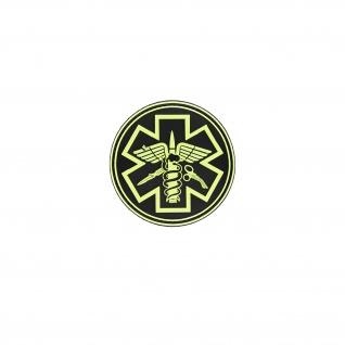 3D Rubber Para Medical Patch Sanitäter Feuerwehr Alfashirt Aufnäher 8x8 cm#26918