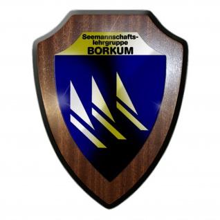 Wappenschild Seemannschaftslehrgruppe Borkum BW Marine Bundesmarine #15336