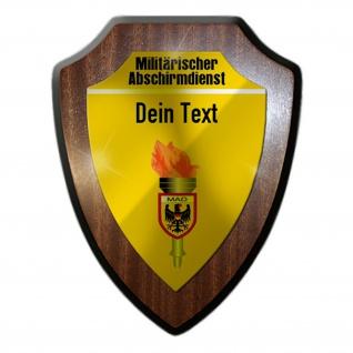 Wappenschild MAD personalisiert Militärische Abschirmdienst Bundeswehr #37337