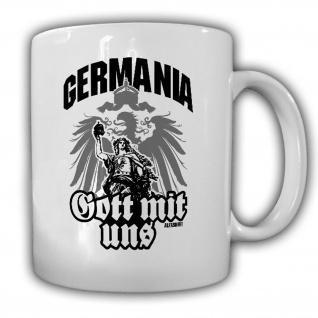 Germania Gott mit uns Preußen Deutschland Adler Göttin Antike - Tasse #19546