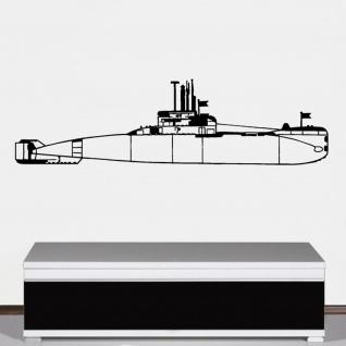 Wandtattoo U-Boot Klasse 206A Bundesmarine Marine Uboot 206 120x33cm #A4277