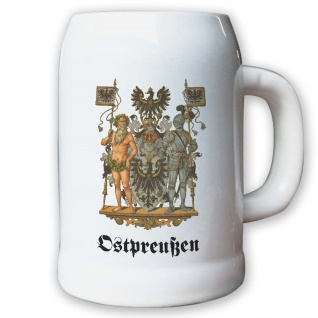 Krug Bierkrug 0, 5l - Preußische Provinz Ostpreußen Kaiserreich Deutschland #9480