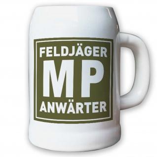 Krug / Bierkrug 0, 5l - Feldjäger Anwärter MP Militär Polizei Bundeswehr #10242 K