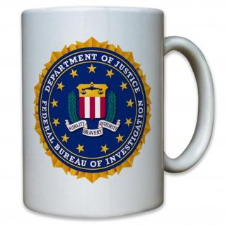 FBI Abzeichen Wappen Bundespolizei USA Amerika Emblem- Tasse #12602