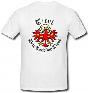 Tirol Dem Land die Treue Wappen Abzeichen Emblem Adler Alpen - T Shirt #274