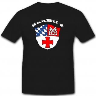 SanBtl 4 Deutschland Sanitäter Bundeswehr Militär Wappen - T Shirt #8004