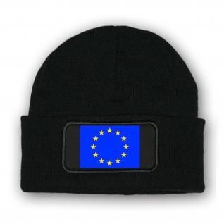 Mütze Beenie -Mütze Europa Fahne Wappen Fahne Euro Korkade Flagge Fell #7026