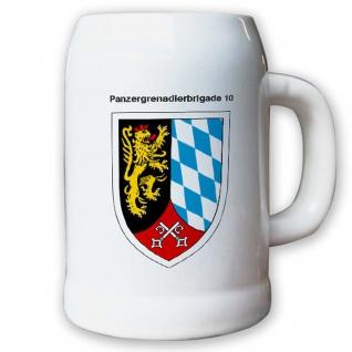 Krug / Bierkrug 0, 5l -23.Bierkrug Panzergrenadierbrigade 10 PzGrenBrig #12987