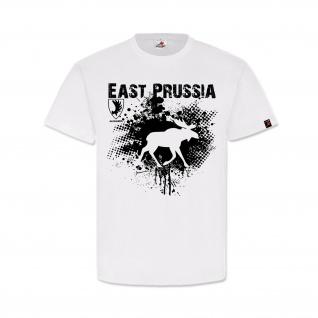 East Prussia Ostpreußen Elch Geweih Wappen Abzeichen Heimat T-Shirt#32156