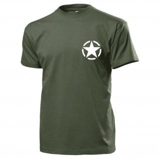 Allied Star Us Army Stern Amerika Vereinigte Staaten GI Symbol - T Shirt #15480
