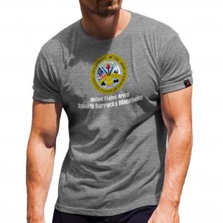 Spinelli Barracks Mannheim United States Army Wappen Abzeichen T Shirt #31190 - Vorschau 1
