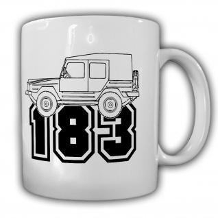 Iltis Typ 183 Geländewagen BW Oldtimer Militär Fahrzeug - Tasse #26556