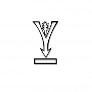 Aufkleber 384 Infanterie-Division Inf-Div Abzeichen Wappen 10, 5x16 cm A4362