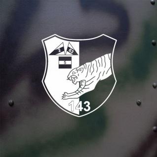 Aufkleber/Sticker PzBtl 143 Panzerbataillon Wappen Abzeichen BW 20x18cm A623