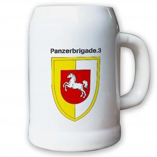 Krug / Bierkrug 0, 5l -Bierkrug Panzerbrigade 3 PzBrig Brigade Einheit #13009