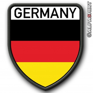 Patch / Aufnäher - Germany Deutschland Fahne Flagge Heimat Fan #6072