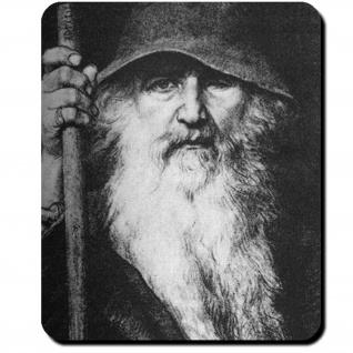 Odin Wanderer Schwedische Ausgabe Edda 1886 Altnordisch Allvater Mauspad #16091