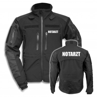 Tactical Softshell Jacke Notarzt Arzt Bereitschaftsdienst Medic Jacke #26748