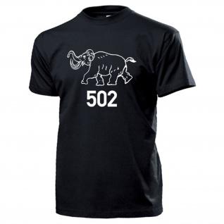 Schwere Panzer Abteilung 502 Logo Wh Tiger Panzer Wappen - T Shirt #14051