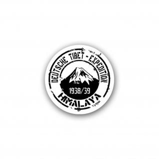 Aufkleber/Sticker Deutsche Tibet Expedition Himalaya Ernst Schäfer 7x7cm A1719