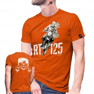 RT Forum 125 Motorrad Reichstyp Oldtimer Biker Internet Seite T Shirt #27380