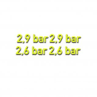 2, 6-2, 9 bar gelb Reifendruck Aufkleber Kotflügelaufkleber 2x 1, 5x5cm #A5484