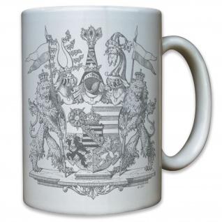 Wappen Herzogtum Sachsen-Altenburg Mittleres Emblem Deutschland - Tasse #11802