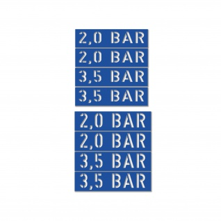 Lackierschablonen Aufkleber 2, 0 3, 5 BAR Oldtimer BW 4x 8x1, 6cm 4x8x2cm#A5715