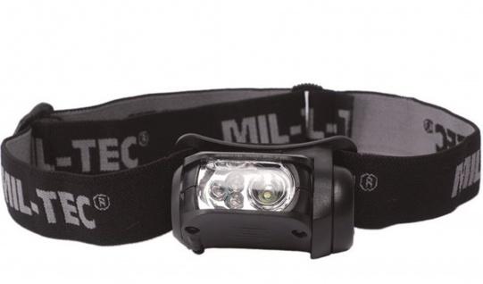 Kopflampe LED 4-farbig Stirnlampe Lampe Stirnband #23754