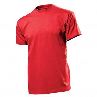 T-Shirt rot Herren Hemd Rundhals 100% Ringspinn-Baumwolle Jersey 185 g-m² #12820