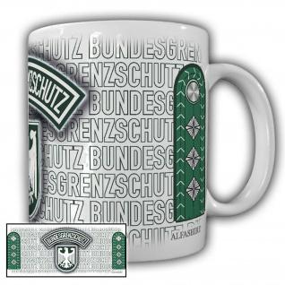 Tasse Grenzhauptjäger BGS Bundesgrenzschutz Wappen Abzeichen Adler #23699
