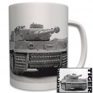 Achtung Tiger Panzer Foto Panzerkampfwagen Deutscher Panzer Wk2 - Tasse #6225