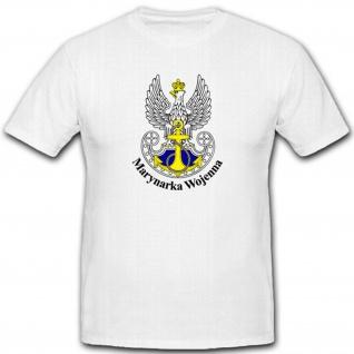 Militär Marine Einheit Armee Polen Polska Polnisch WK Wappen T Shirt #2329