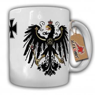 Preußen Adler Eisernes Kreuz - Tasse Becher Kaffee #2233