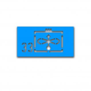 Lackierschablonen Taktische Zeichen JaboG 33 ZDv 1-11 Militär 26x15cm A5078