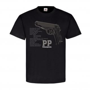 PP Polizeipistole Waffe Technische Daten deutsche Deko Sport T Shirt #20217