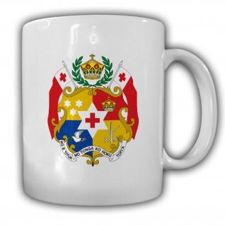 Tasse Königreich Tonga Wappen Flagge Becher #13943