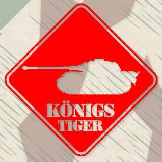 Aufkleber/Sticker Königs Tiger Panzer Schild Militär 20x20 cm #A282