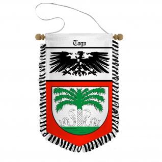 Wimpel Togo Deutsche Kolonie Afrika Kolonialbund Andenken Souvenir #31235