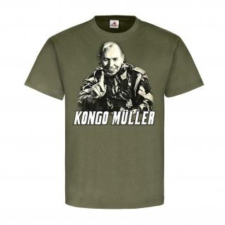 Kongo Müller Söldner Der lachende Mann Afrika 60er Jahre Major T-Shirt #23201