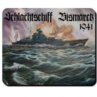 Bismarck Schiff Schlachtschiff deutsche Marine WK 2 - Mauspad #8588