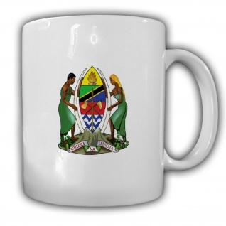 Tasse Tansania Wappen Vereinigte Republik Emblem Kaffee Becher #13937