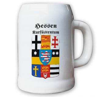 Krug / Bierkrug 0, 5l - Hessen Kurfürstentum historisch historisches Wappen #9497