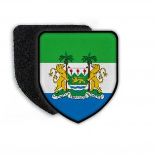 Patch Flag of Sierra Leome Flagge Wappen Zeichen Landesflagge #21330