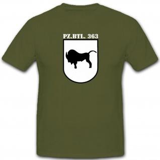 Pzbtl363 Panzer Bataillon Bundeswehr Panzerbataillon 363 Wappen Abzeichen - T Shirt #3996