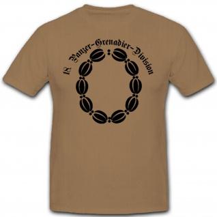 18 PzGrenDiv Panzergrenadierdivision Wh Wappen Abzeichen T Shirt #3041